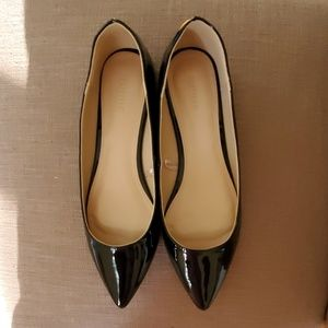 FOREVER21 Faux Patent Black Leather Flats